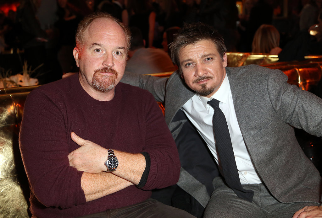 Louis C.K. chatted with Jeremy Renner at the afterparty.