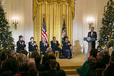 President Barack Obama recognized the 2013 Kennedy Center honorees at a White House reception before the ceremony.