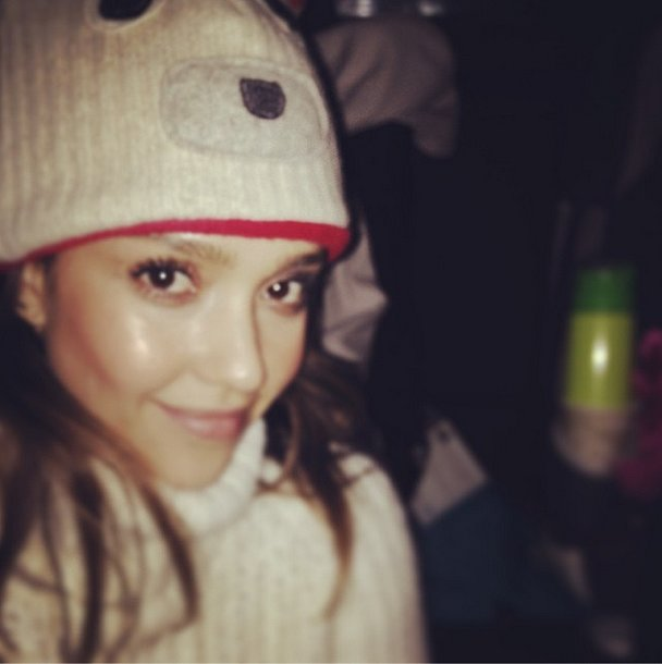 Fuzzy wuzzy was Jessica Alba. Source: Instagram user jessicaalba