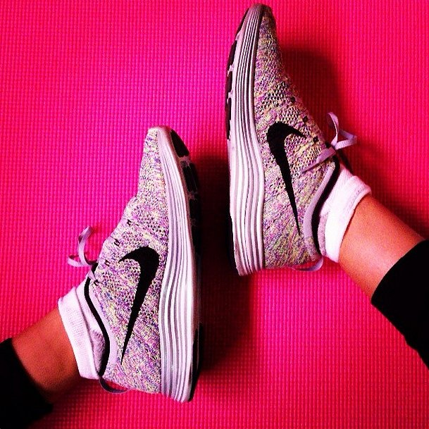 The most important part of any outfit: cute shoes. The gym is no exception. Source: Instagram user shaym