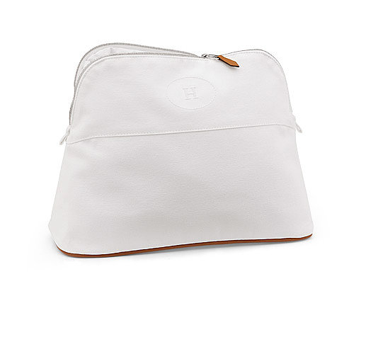 "Hermès White Toiletry Case ($370) ""Great gift for the friend that's always on the go."""