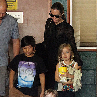 Angelina Jolie, Brad Pitt and Children in Sydney