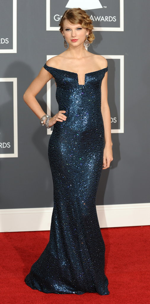 The singer sparkled like a star-filled midnight sky in Kaufman Franco and Lorraine Schwartz at the 2010 Grammy Awards.