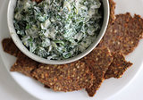 Spinach Dip With Flax Crackers
