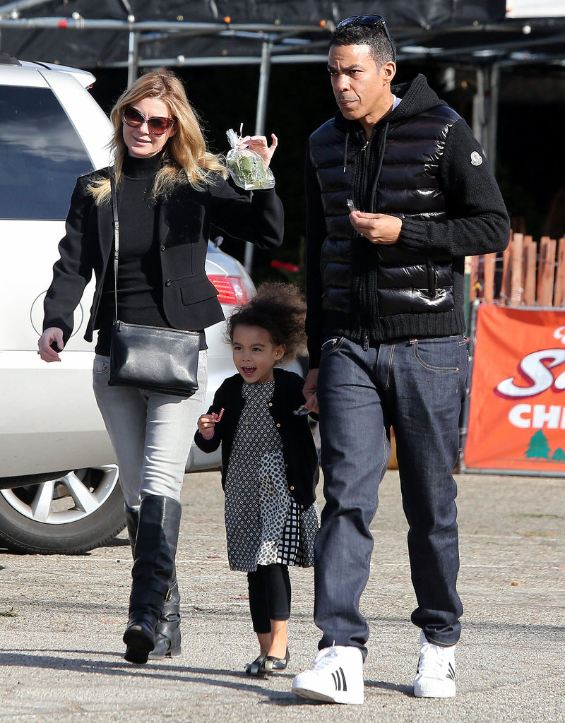 Ellen Pompeo went Christmas tree shopping with her family in LA.