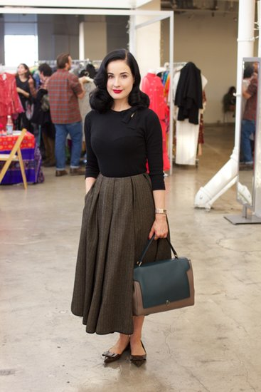 Dita Von Teese at the A Current Affair Pop Up Vintage Marketplace. Source: Lani Trock