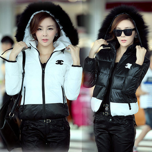Discount Korean Fashion winter fur hooded thick plus size outerwear down coat in women down parkas on sightface.com