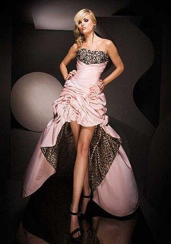 Prom Dresses Asymmetrical Strapless Ruffles Floor Length A Line