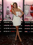 Karlie Kloss at the Victoria's Secret Angels holiday celebration.