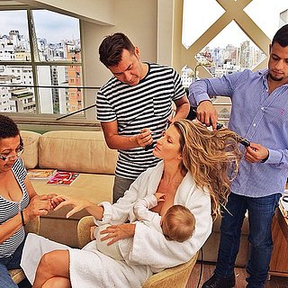 Photo of Gisele Breastfeeding Vivian