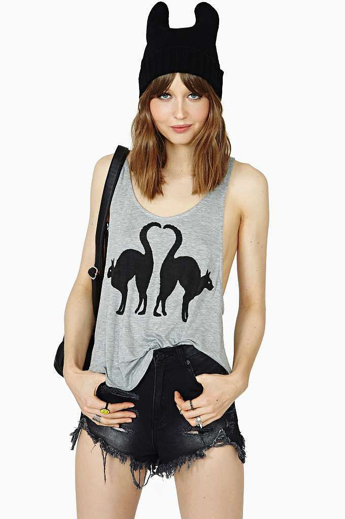 Nasty Gal Lucky Black Cats Tank ($38)