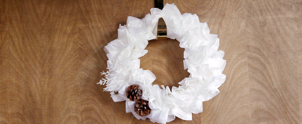 Get Festive With a Coffee-Filter Winter Wreath