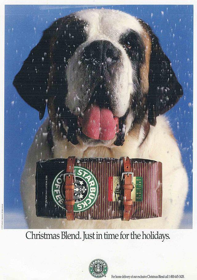 Starbucks' St. Bernard Ad