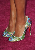 Kerry Washington's style really bloomed this year, as evidenced by her bright floral pumps.