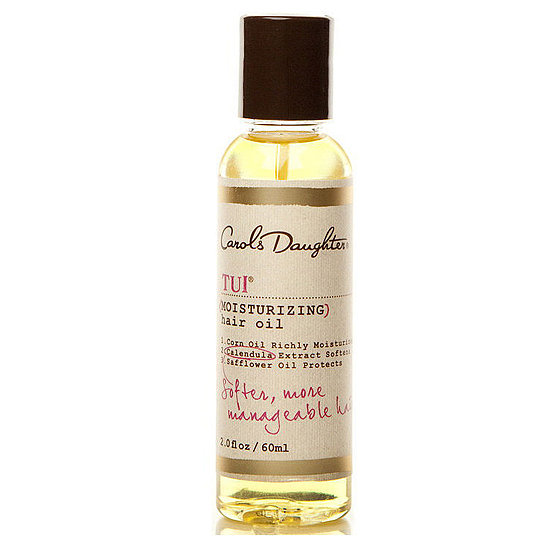 Brittle Winter hair does not a date night make, but Carol's Daughter Tui Moisturizing Hair Oil ($10) adds shine back into lackluster locks.