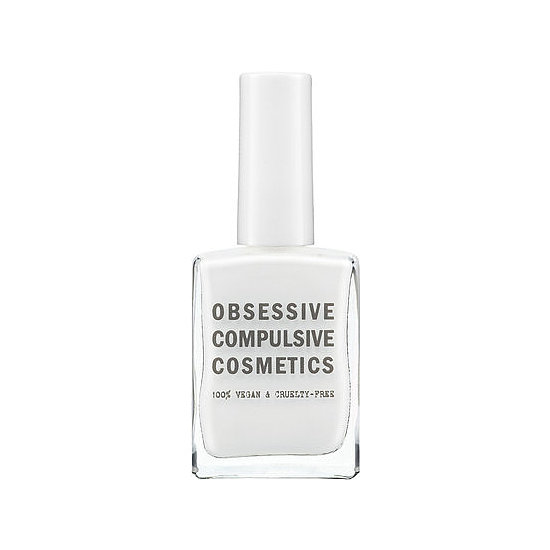 Just because it's Winter doesn't mean that you can't wear white on your nails. Obsessive Compulsive Cosmetics Nail Lacquer in Feathered ($10) mimics a blizzard . . . but in a good way.