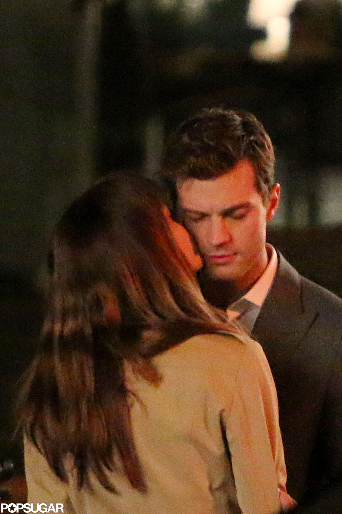 On Sunday, Jamie Dornan and Dakota Johnson got up close and personal on the set of the Fifty Shades of Grey movie in Vancouver, Canada.