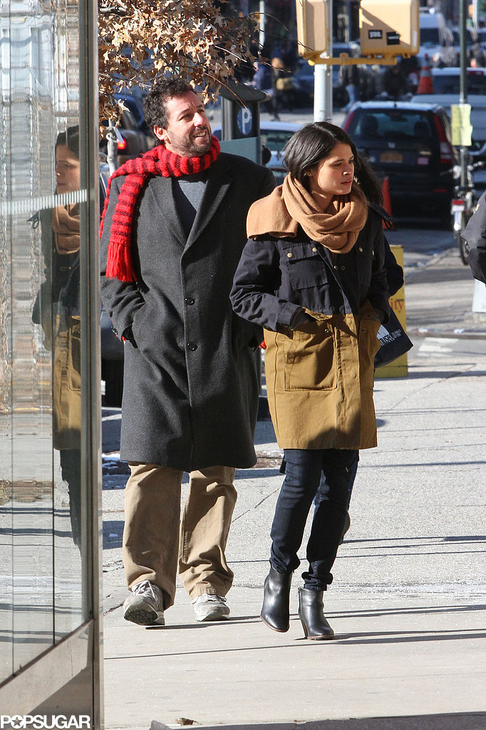 Adam Sandler bundled up on the set of The Cobbler in NYC on Wednesday.