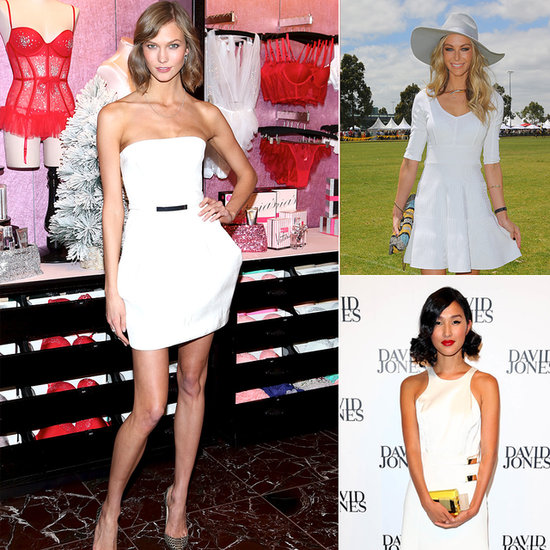 Celebrities Wearing White Dresses