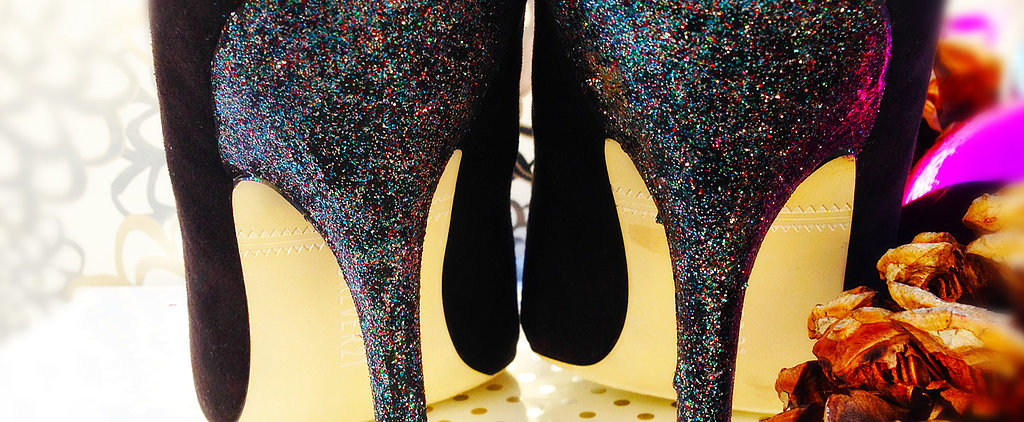 Use Glitter Polish to Fix Scuffed Heels!