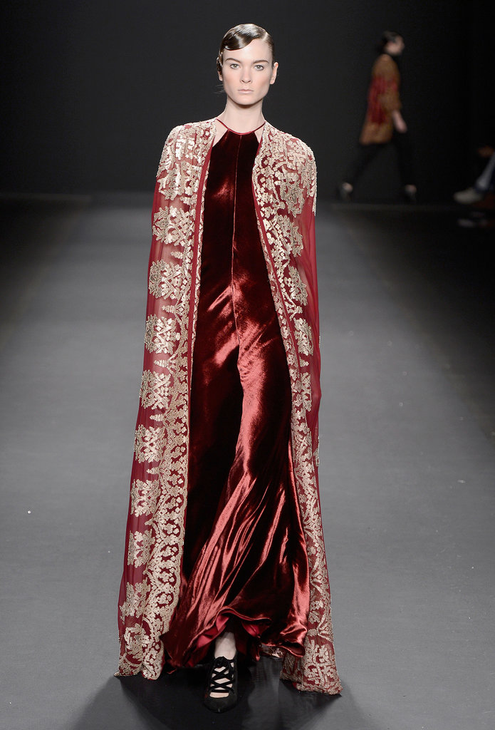 We imagine if Santa needed to be fancy, like for a red carpet event, he'd go for something like this Naeem Khan look.