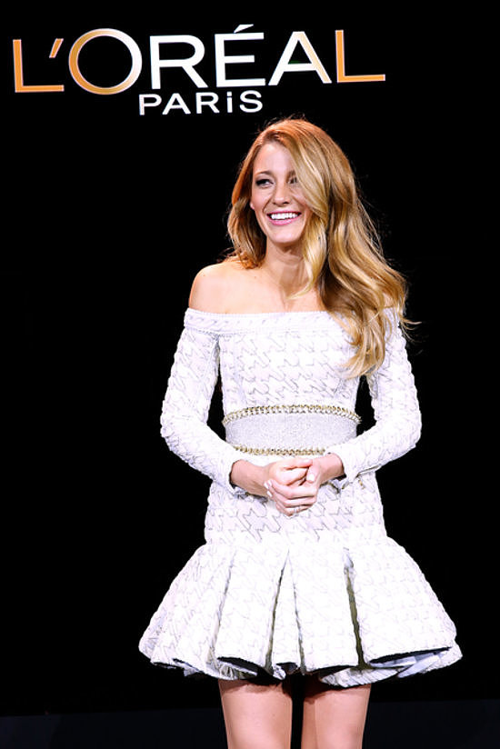 Talk about soft-shoeing into an announcement — we found out that Blake Lively was the new face of L'Oréal Paris via the brand's Instagram!