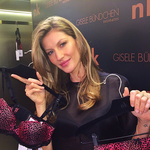 Gisele Bündchen showed off her new line of lingerie during an event in Brazil. Source: Instagram user giseleofficial