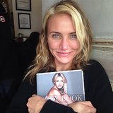 "Cameron Diaz clutched her new tome, The Body Book, saying, ""One of my proudest moments!"" Source: Instagram user diaz_cameron"