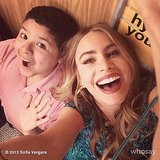 Sofia Vergara and Rico Rodriguez clowned around in an elevator on the set of Modern Family. Source: Sofia Vergara on WhoSay