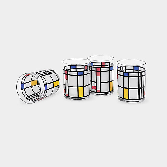 The iconic mondrian pattern makes its way onto these MoMA store tumblers ($10) for a gift she won't soon forget.