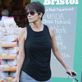 Halle Berry Grocery Shopping in LA After Baby