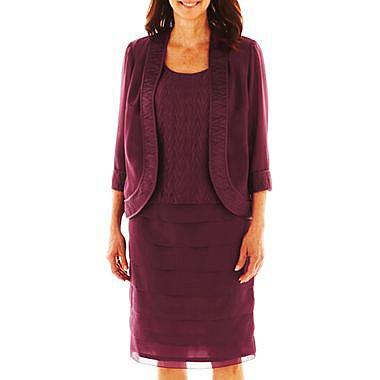 Dana Kay Tiered Dress with Jacket