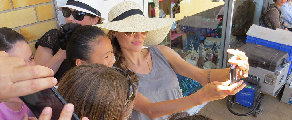 Angelina Jolie Takes Selfies, Too!