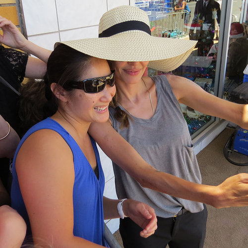 Angelina Jolie Taking a Selfie on Set