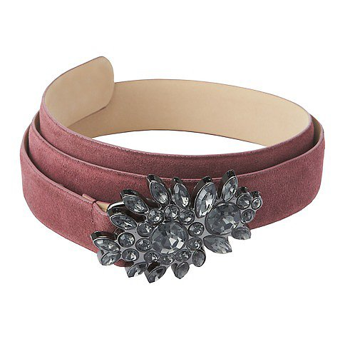 Loft's Cast Stone Buckle Belt ($40) is the perfect piece to add a little holiday sparkle.