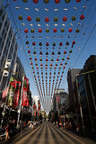 Christmas decorations took over Burke Street Mall in Melbourne, Australia.