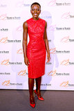 Lupita Nyong'o wore Resort 2014 Elie Saab to the Paris premiere of her film 12 Years a Slave.