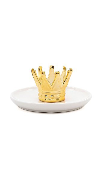 Any princess needs a Shopbop Crown Ring Holder ($30), right?