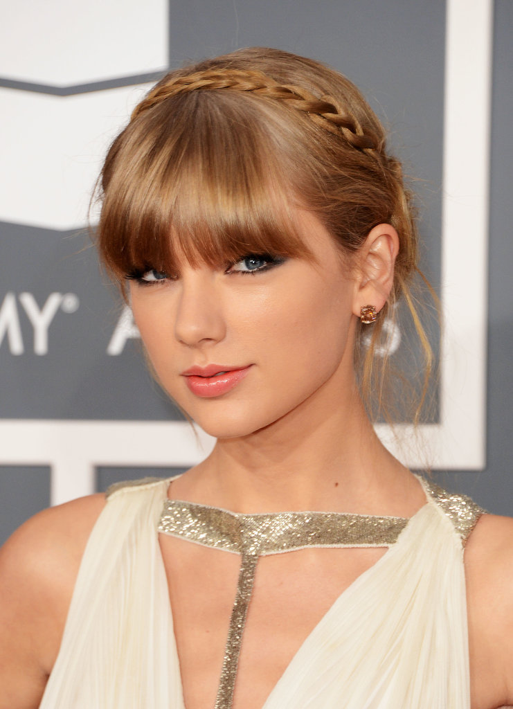 She wore a boho-inspired minibraid to this year's Grammy Awards, which looked adorable paired with her signature middle fringe.
