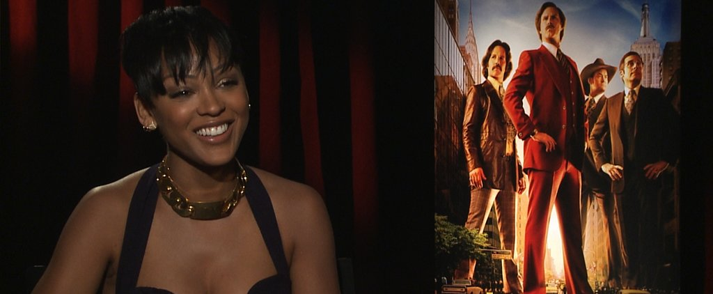 Meagan Good Gives Us One Stellar Ron Burgundy Impression