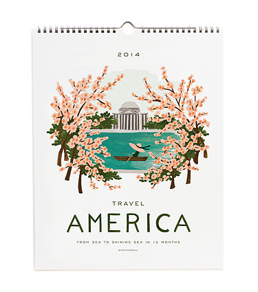 See America through Rifle's whimsical designs in this adorable travel calendar ($26).