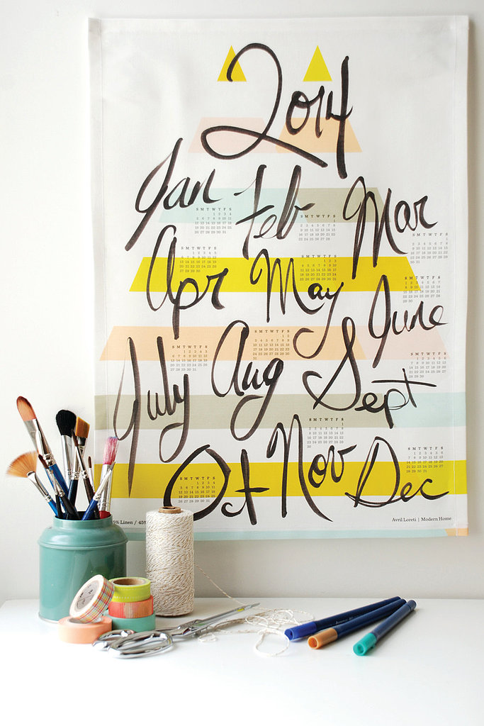 Although it looks more like a watercolor, this calendar is actually a tea towel ($25)!