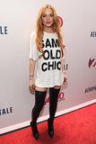 Lindsay Lohan arrived for her night at the Z100 Jingle Ball in NYC.