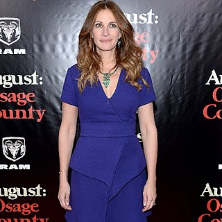 Julia Roberts in Blue Dress at August Osage Premiere