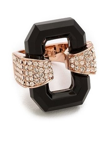 Rachel Zoe Lucite Cocktail Ring ($125)