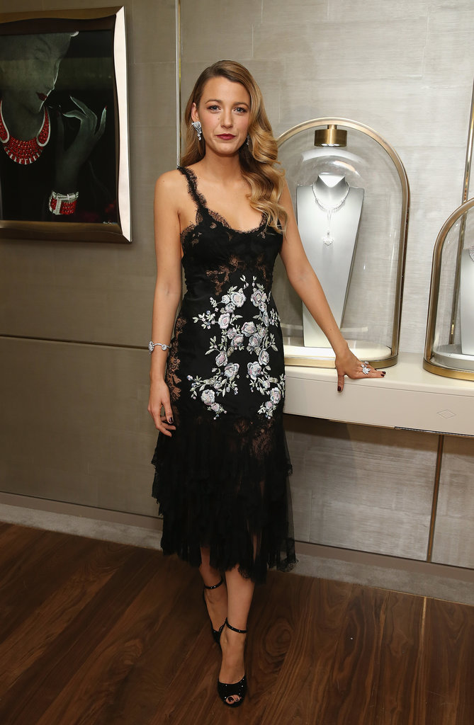 Blake Lively looked sultry in her lace Marchesa design at the Van Cleef & Arpels flagship party. The only thing that rivaled her slinky style? Those diamonds!