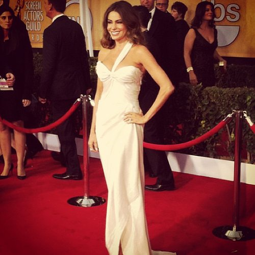 Sofia Vergara was a vision in white at the SAG Awards.