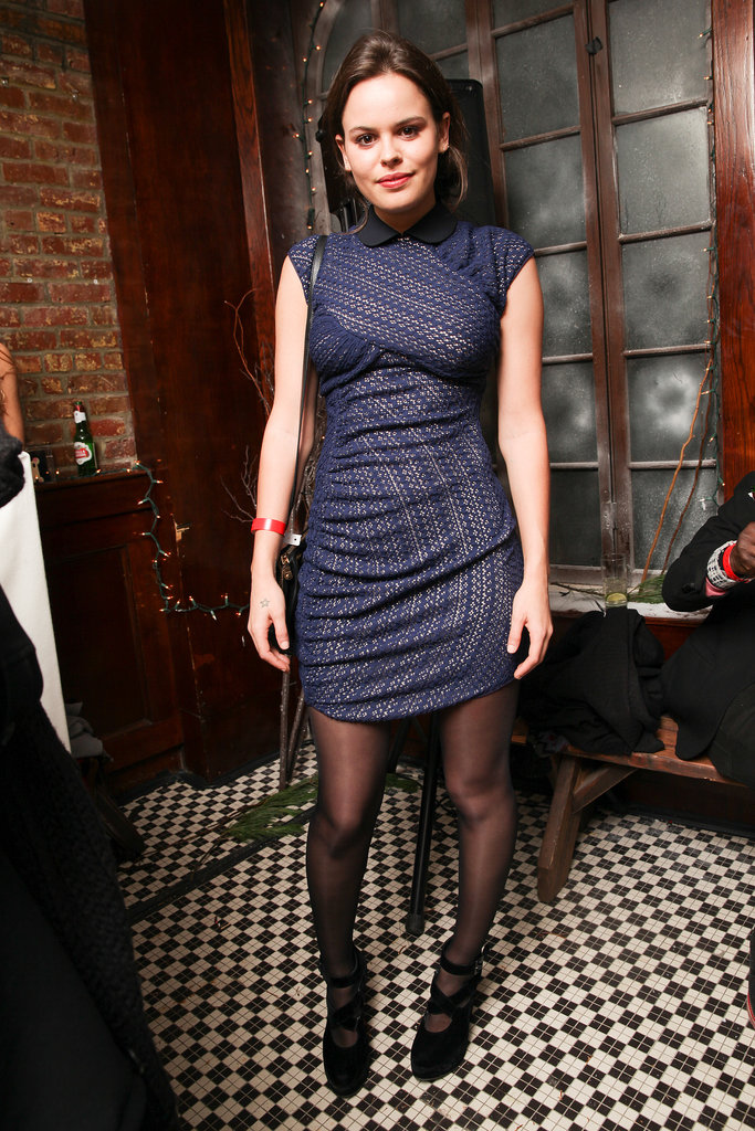 Atlanta de Cadenet at Charlotte Ronson's holiday party.
