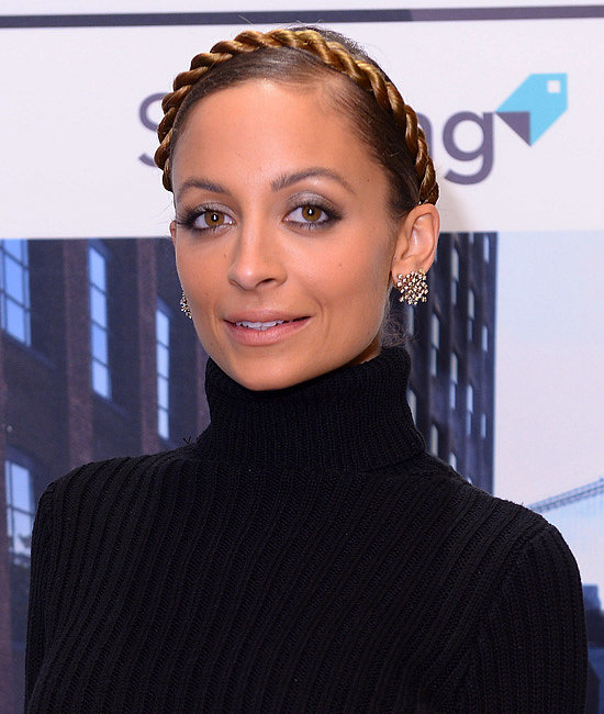 "Nicole Richie's faux milkmaid twist was among the most ""liked"" on Facebook. Perhaps our audience is on the hunt for holiday headbands."