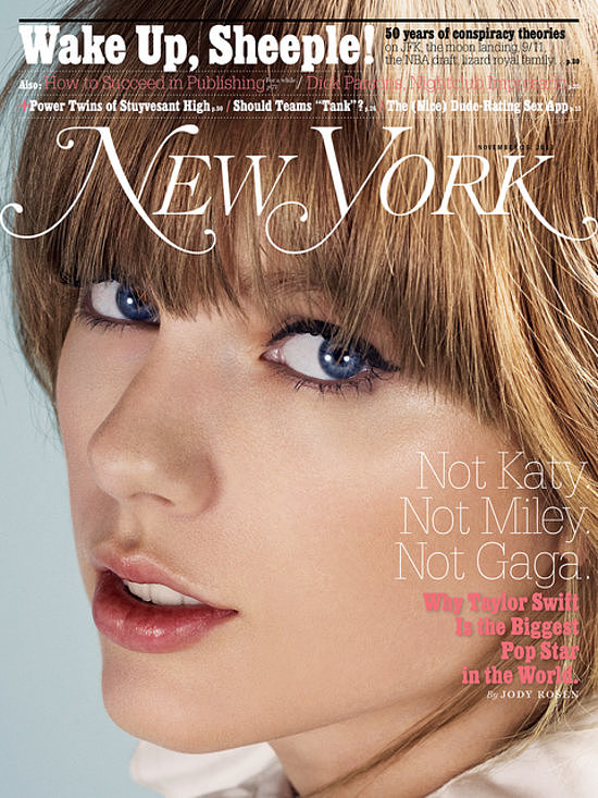 "Taylor Swift graced the cover of New York Magazine in November 2013, opening up to the publication about her critics, her exes, and why she only writes about ""crazy love."""